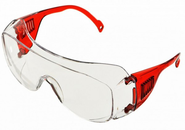 Safety glasses made of polycarbonate glass